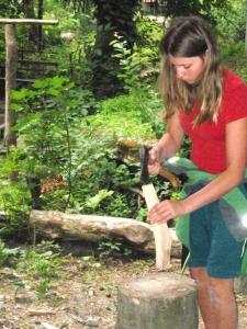 Holz hacken