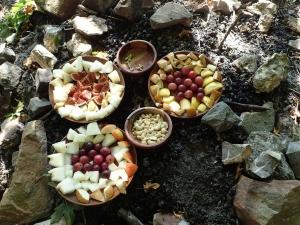 Obst in der Feuerstelle